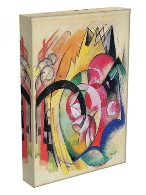 Colored flowers by Franz Marc Canvas Print or Poster - Canvas Art Rocks - 3
