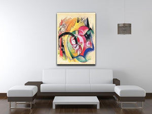 Colored flowers by Franz Marc Canvas Print or Poster - Canvas Art Rocks - 4
