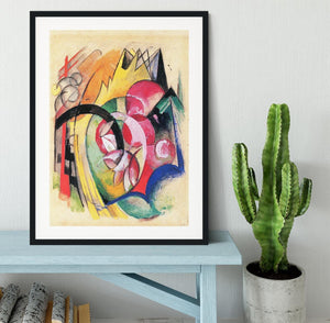 Colored flowers by Franz Marc Framed Print - Canvas Art Rocks - 1