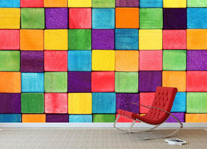 Colorful blocks Wall Mural Wallpaper - Canvas Art Rocks - 2