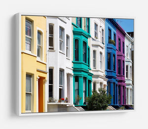 Colorful english houses HD Metal Print