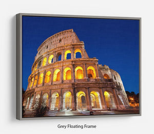 Colosseum Dome at dusk Floating Frame Canvas