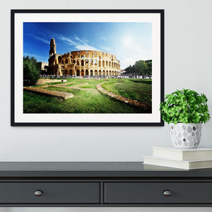 Colosseum Sunny Day in Rome Framed Print - Canvas Art Rocks - 1