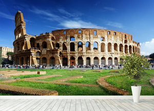 Colosseum in Rome Italy Wall Mural Wallpaper - Canvas Art Rocks - 4