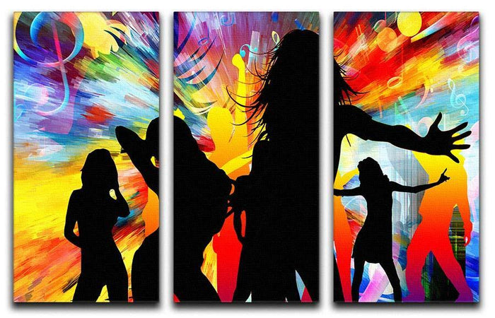 Colour Blast Dance 3 Split Panel Canvas Print