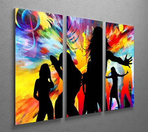 Colour Blast Dance 3 Split Panel Canvas Print - Canvas Art Rocks - 2