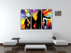 Colour Blast Dance 3 Split Panel Canvas Print - Canvas Art Rocks - 3
