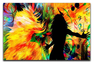 Colour Blast Girl Dancing Canvas Print or Poster  - Canvas Art Rocks - 1