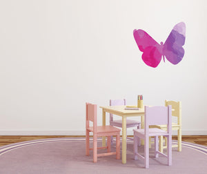 Colourful Butterfly Silhouette Wall Sticker - Canvas Art Rocks - 1