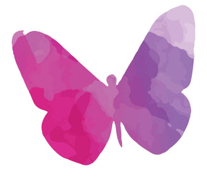 Colourful Butterfly Silhouette Wall Sticker - Canvas Art Rocks - 3