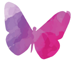Colourful Butterfly Silhouette Wall Sticker - Canvas Art Rocks - 2