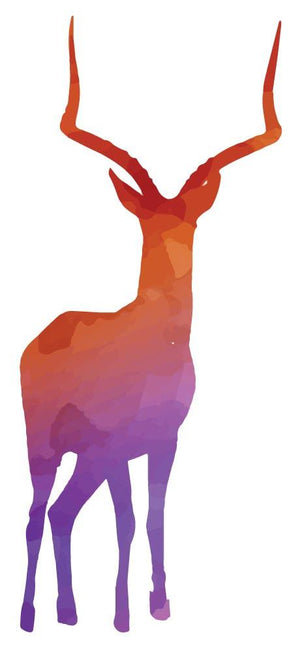 Colourful Deer Silhouette Wall Sticker - Canvas Art Rocks - 2