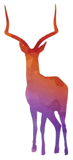 Colourful Deer Silhouette Wall Sticker - Canvas Art Rocks - 3