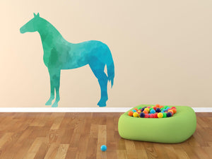 Colourful Horse Silhouette Wall Sticker - Canvas Art Rocks - 1