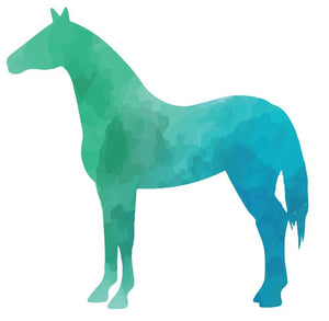 Colourful Horse Silhouette Wall Sticker - Canvas Art Rocks - 3