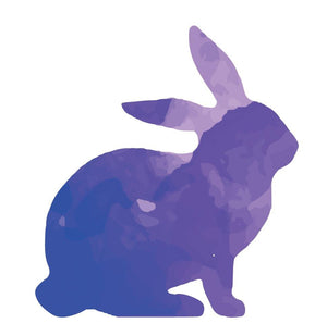 Colourful Rabbit Silhouette Wall Sticker - Canvas Art Rocks - 2