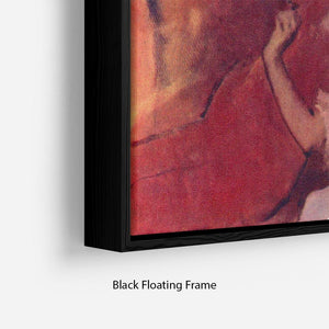 Combing hair by Degas Floating Frame Canvas - Canvas Art Rocks - 2