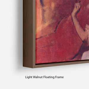 Combing hair by Degas Floating Frame Canvas - Canvas Art Rocks - 8