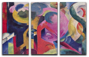 Composition III by Franz Marc 3 Split Panel Canvas Print - Canvas Art Rocks - 1