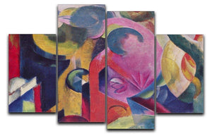Composition III by Franz Marc 4 Split Panel Canvas  - Canvas Art Rocks - 1