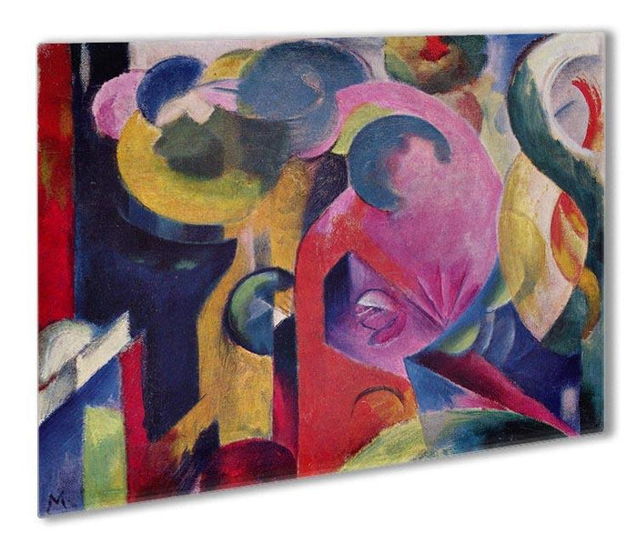 Composition III by Franz Marc Outdoor Metal Print