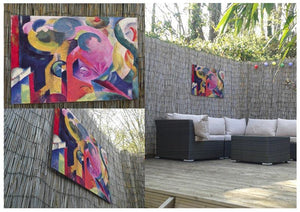 Composition III by Franz Marc Outdoor Metal Print - Canvas Art Rocks - 2