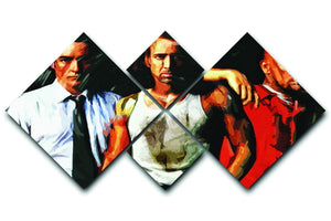 Con Air 4 Square Multi Panel Canvas  - Canvas Art Rocks - 1