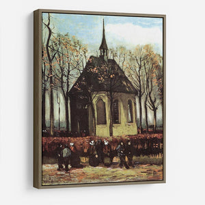 Congregation Leaving the Reformed Church in Nuenen by Van Gogh HD Metal Print