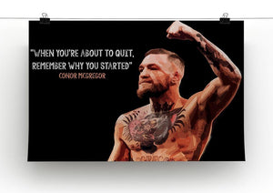 Conor Mcgregor Quit Canvas Print or Poster - Canvas Art Rocks - 2
