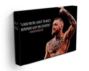Conor Mcgregor Quit Canvas Print or Poster - Canvas Art Rocks - 3