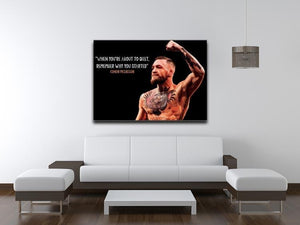 Conor Mcgregor Quit Canvas Print or Poster - Canvas Art Rocks - 4