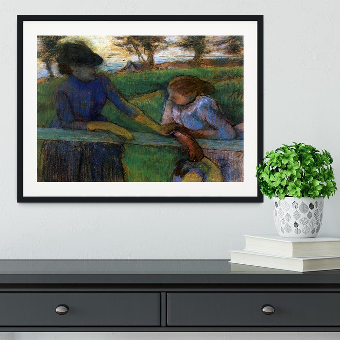 Conversation by Degas Framed Print