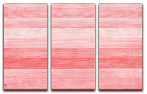 Coral pink or peach and salmon color 3 Split Panel Canvas Print - Canvas Art Rocks - 1