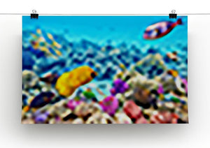 Corals and tropical fish Canvas Print or Poster - Canvas Art Rocks - 2