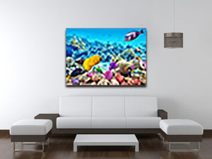 Corals and tropical fish Canvas Print or Poster - Canvas Art Rocks - 4