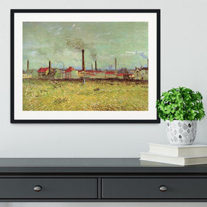 Corner of Voyer d Argenson Park at Asnieres 2 by Van Gogh Framed Print - Canvas Art Rocks - 1