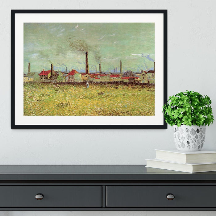 Corner of Voyer d Argenson Park at Asnieres 2 by Van Gogh Framed Print