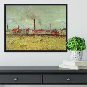 Corner of Voyer d Argenson Park at Asnieres 2 by Van Gogh Framed Print - Canvas Art Rocks - 2