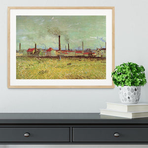 Corner of Voyer d Argenson Park at Asnieres 2 by Van Gogh Framed Print - Canvas Art Rocks - 3