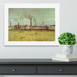 Corner of Voyer d Argenson Park at Asnieres 2 by Van Gogh Framed Print - Canvas Art Rocks - 5