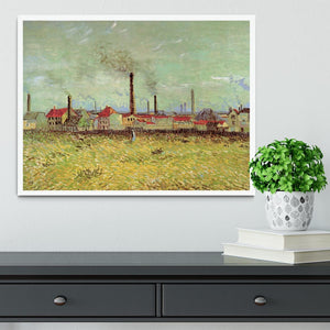 Corner of Voyer d Argenson Park at Asnieres 2 by Van Gogh Framed Print - Canvas Art Rocks -6