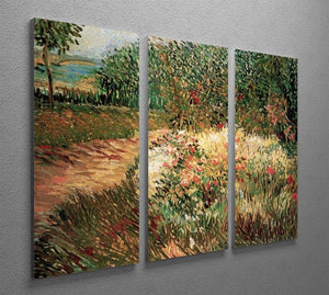 Corner of Voyer d Argenson Park at Asnieres by Van Gogh 3 Split Panel Canvas Print - Canvas Art Rocks - 4