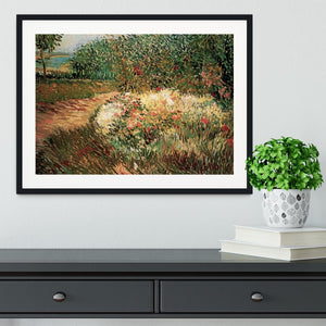 Corner of Voyer d Argenson Park at Asnieres by Van Gogh Framed Print - Canvas Art Rocks - 1