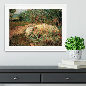 Corner of Voyer d Argenson Park at Asnieres by Van Gogh Framed Print - Canvas Art Rocks - 5
