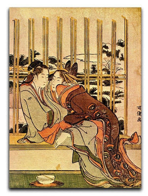 Couples by Hokusai Canvas Print or Poster  - Canvas Art Rocks - 1