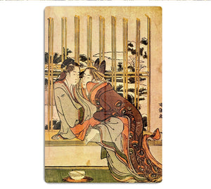 Couples by Hokusai HD Metal Print