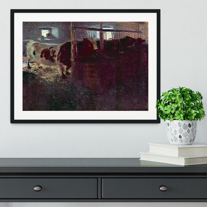 Cows in Stall by Klimt Framed Print