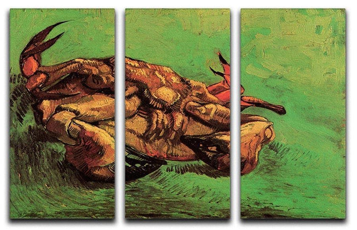 Crab on Its Back by Van Gogh 3 Split Panel Canvas Print