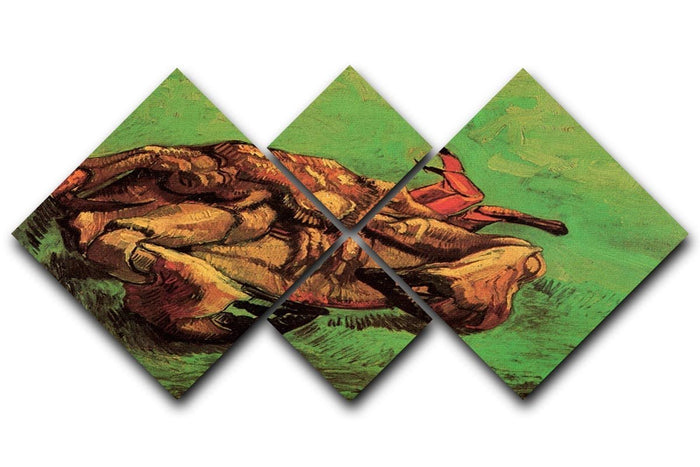 Crab on Its Back by Van Gogh 4 Square Multi Panel Canvas