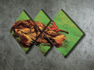 Crab on Its Back by Van Gogh 4 Square Multi Panel Canvas - Canvas Art Rocks - 2